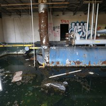 Water flows through Detroit's vacant buildings