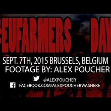 Brussels, Belgium - EU Farmers Clash with Police at the EU Commision