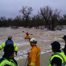 High water, high drama: Victims trapped in White River flood torrent for hours before harrowing r...
