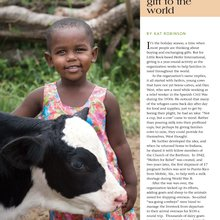 Passing it on Heifer International's gift to the world