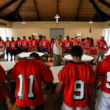 Faith and football a controversial pairing