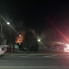 Commercial building catches fire in Vineland