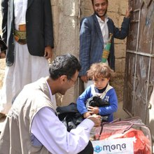 These people are fighting off a famine in Yemen