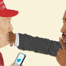 This Haitian American artist's image of MLK hushing Trump goes viral again