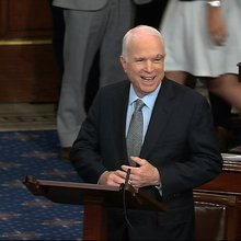 John McCain took time out of cancer treatment to vote against poor Americans accessing healthcare...