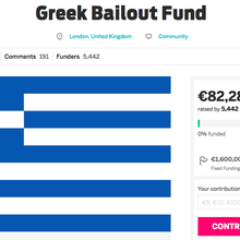 Someone Is Trying to Crowdfund a Greek Bailout, and Donations Are Surging