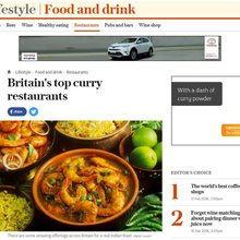Britain's top curry restaurants