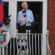 Assange Makes His Case in London Embassy Speech