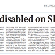 Payout win for disabled on $1 an hour