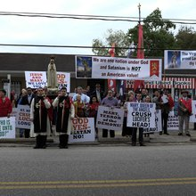 Greater Church of Lucifer Opens to Protests in Old Town Spring