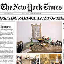 New York Times publishes front page editorial on gun violence, first in 95 years
