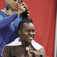 Expo pitches natural-hair life as a way of healthy living