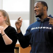 Seahawks' Derrick Coleman tells Tacoma kids, 'If you have a dream, go for it'