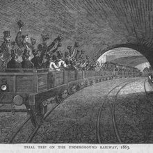 Want to see what travelling on the Tube 150 years ago looked like?
