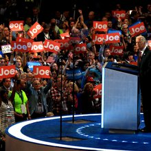 Watch the dramatic ending to Joe Biden's convention speech