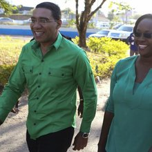 Jamaican opposition winning photo-finish general election, provisional results show