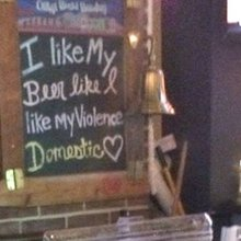 Woman Disgusted By Bar's Domestic Violence Message
