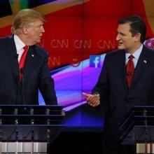 Citizen Cruz: Trump hammers away, Senate leader mum