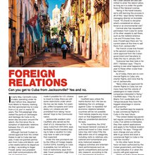 FOREIGN RELATIONS - Can you get to Cuba from Jacksonville? Yes and no.