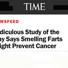 "Journalists jump at chance to say ""fart"" in a story; botch what study & news release said"