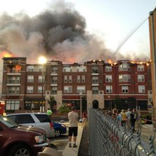 Apartment fire vs. reality TV show