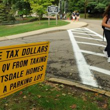 Leetsdale residents upset by Quaker Valley's parking lot plan