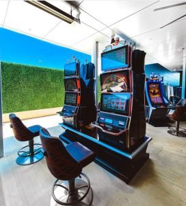 Outdoor Gaming Machine at MGM