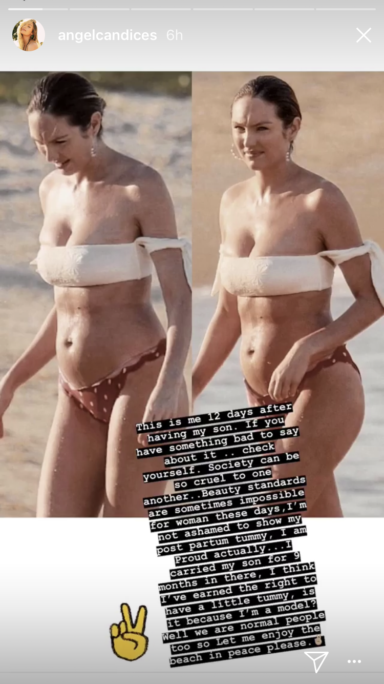 a4d853561e Victoria s Secret Model Candice Swanepoel Post-Pregnancy - Health + ...
