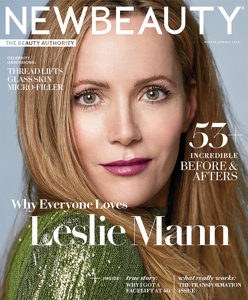 Leslie Mann Beauty Cover Interview Winter 2019 Celebrity Makeup