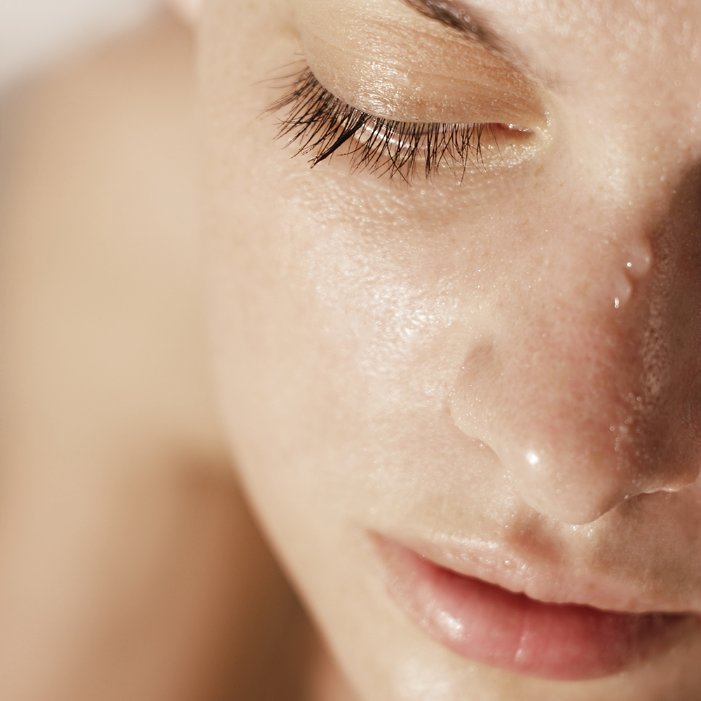 how to get damp skin