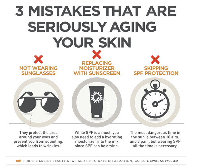 Skin Care Infographic: Infographic: 3 Mistakes Aging Your Skin