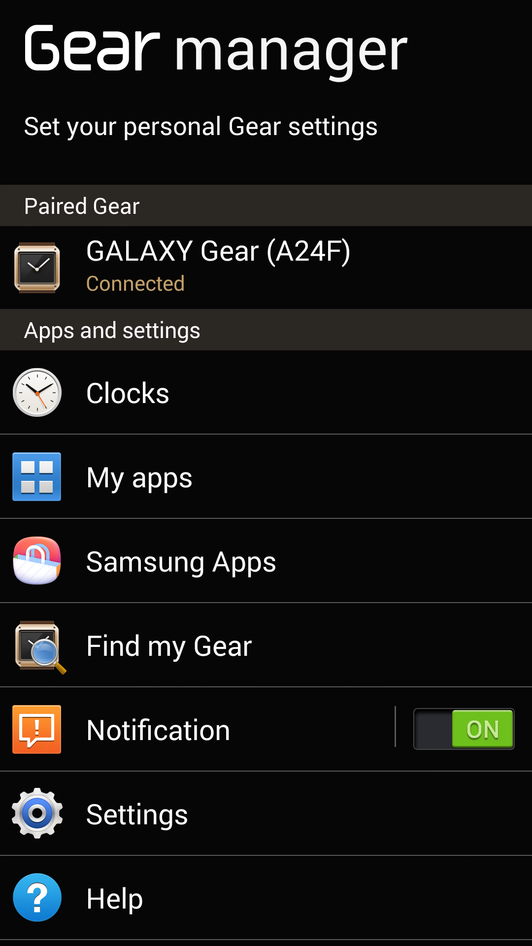 samsung gear manager app download