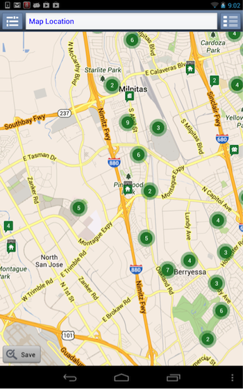 Redfin aggregated map markers
