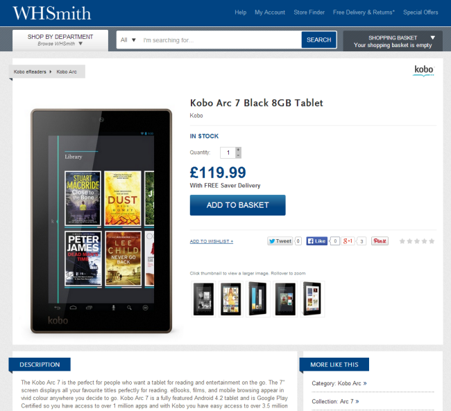 WHSmith.co.uk product description page
