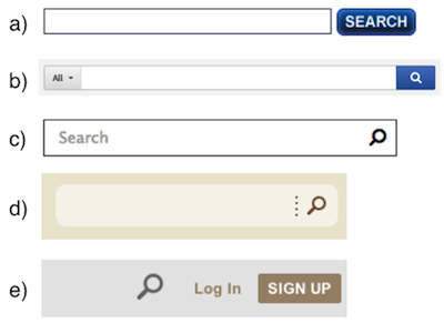 Evolution of search boxes