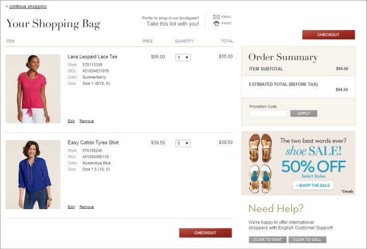 Decision making in the ecommerce shopping cart 4 tips for for Number 1 online shopping site