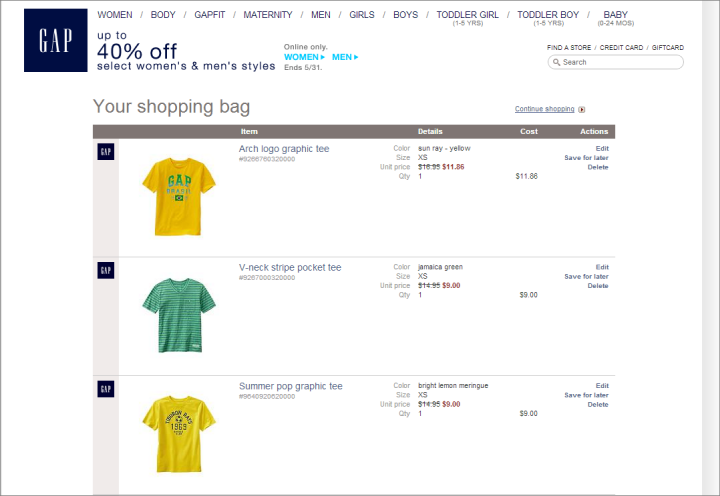 Decision making in the ecommerce shopping cart 4 tips for for Name of online shopping websites