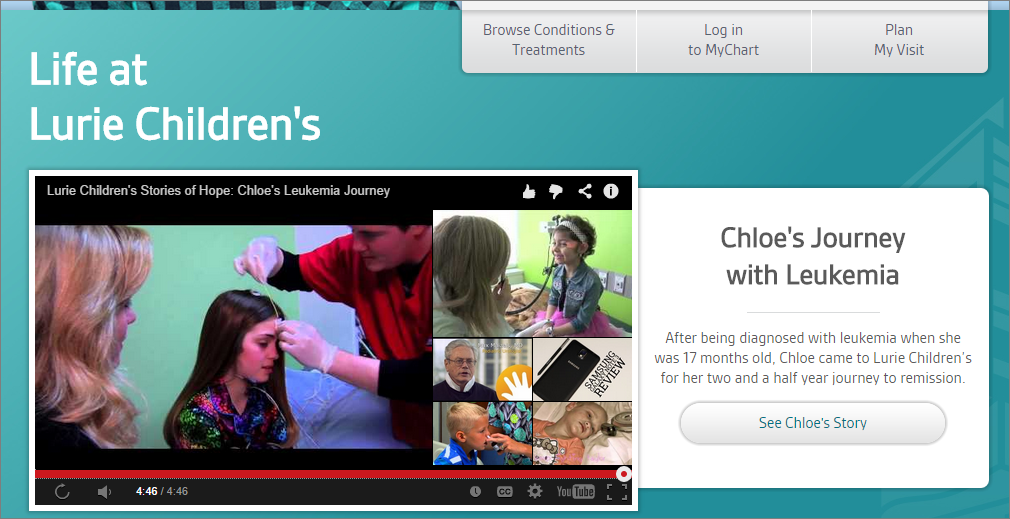 At The End Of This Video On The Website For Lurie Childrens Hospital Related Videos From Youtube Are Shown Some Are Associated With The Hospital