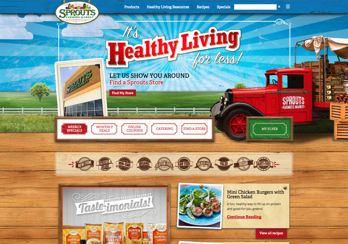 Sprouts homepage