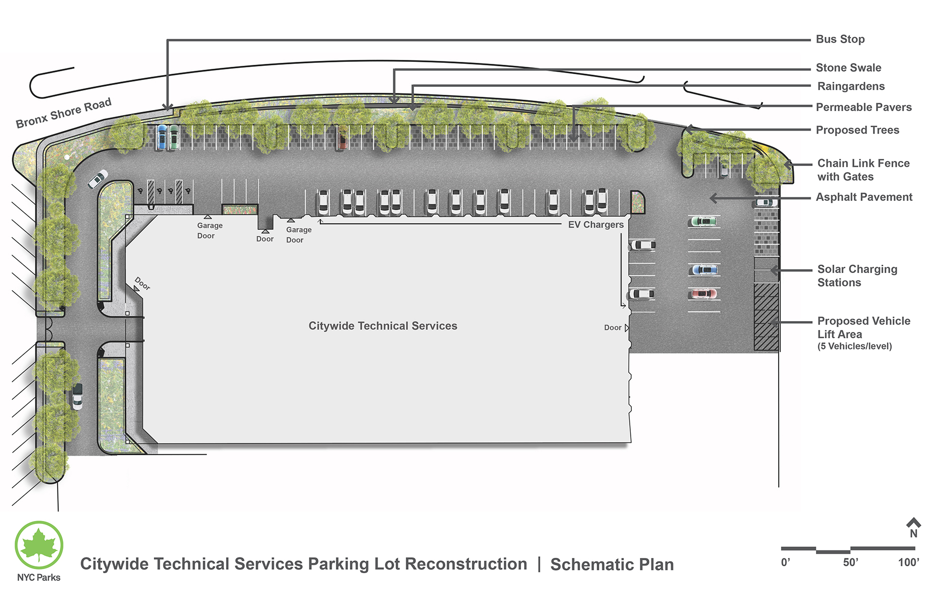 Design of 5 Boro Complex and Garage Parking Lot Reconstruction
