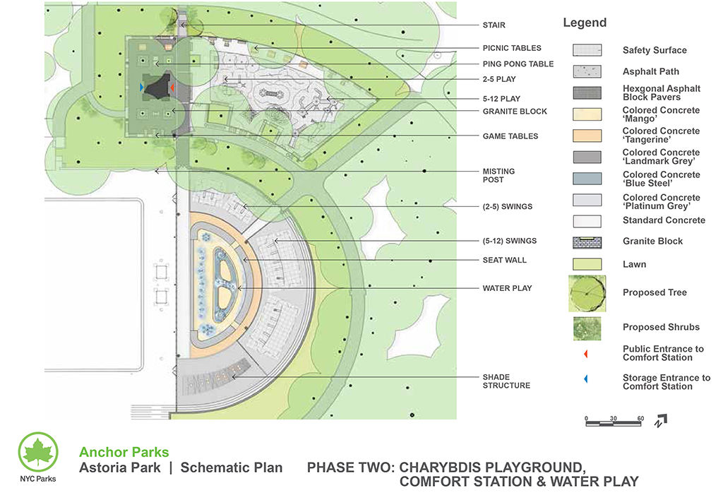 Design of Astoria Park Charybdis Playground Reconstruction and Spray Shower Construction
