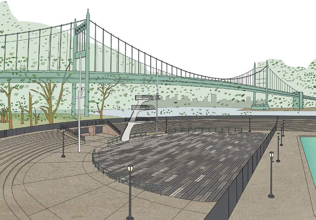 Design of Astoria Park Diving Pool Plaza Construction