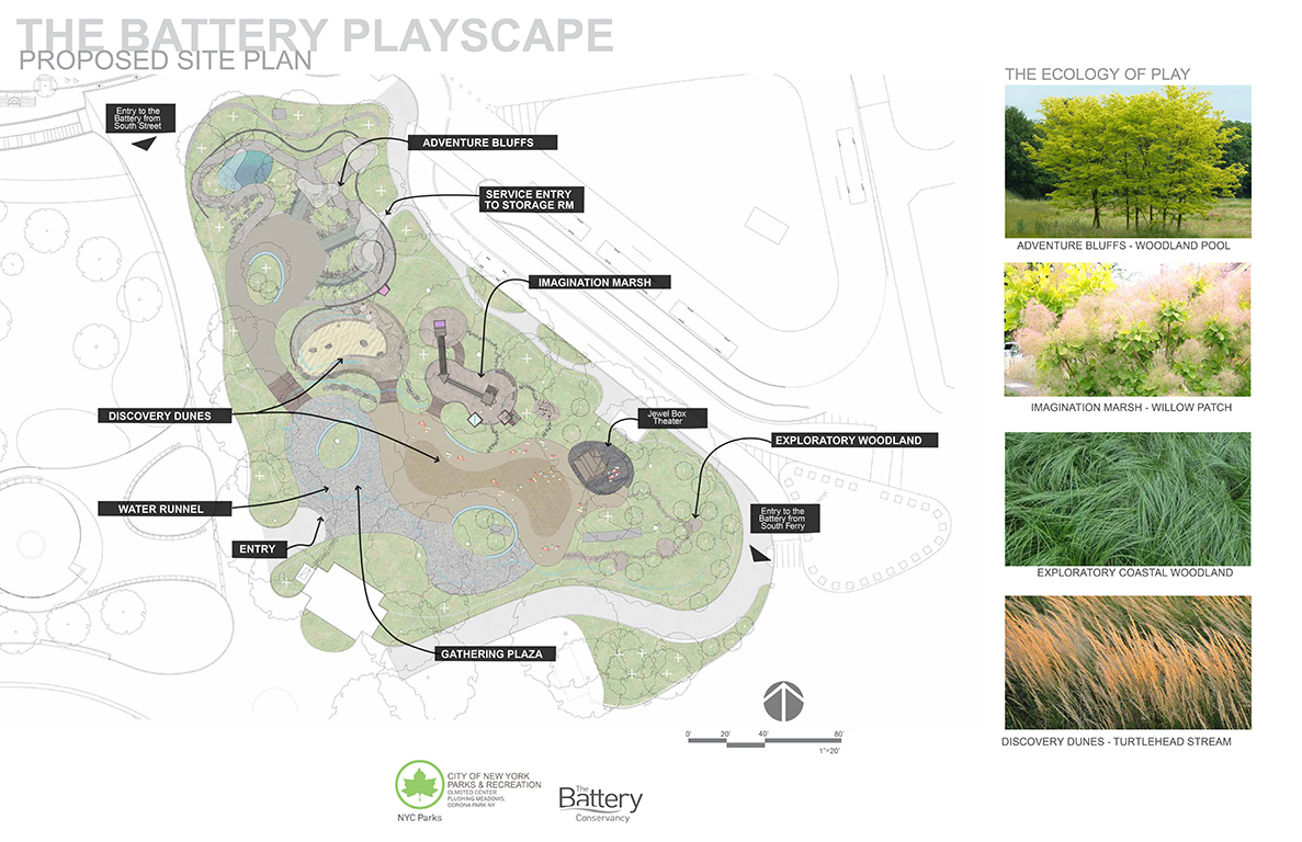 Design of Battery Park Playground Reconstruction