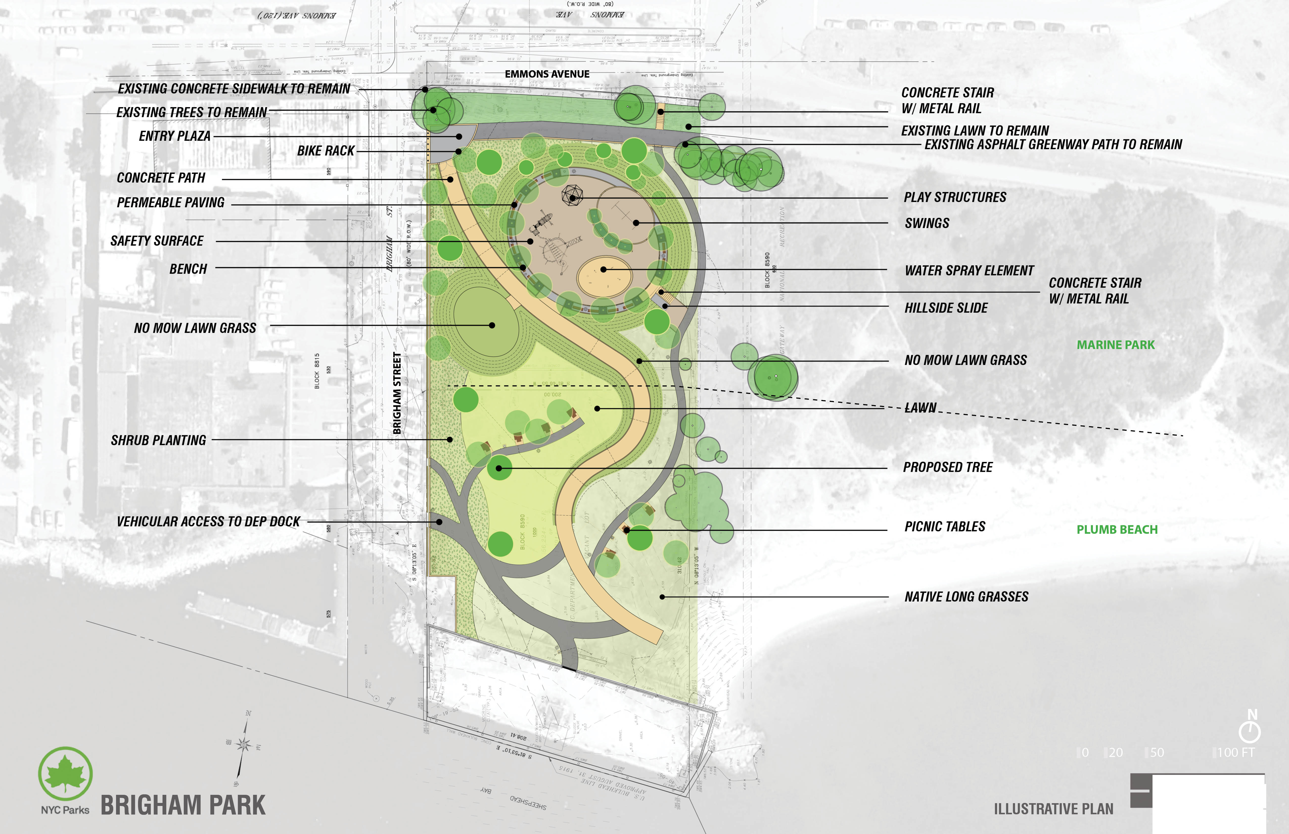 Design of Brigham Street New Park Construction