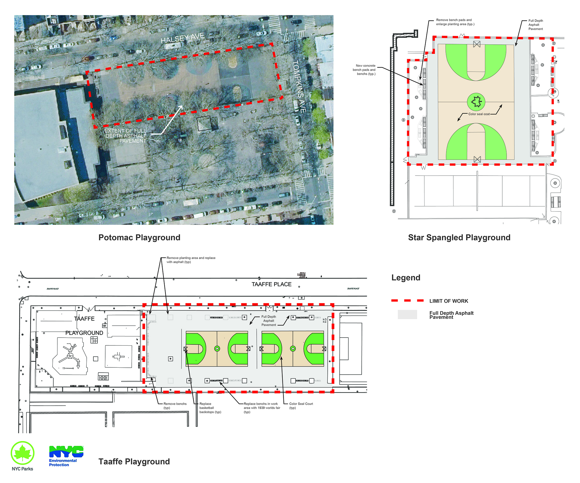 Design of Brooklyn Basketball Courts Reconstruction