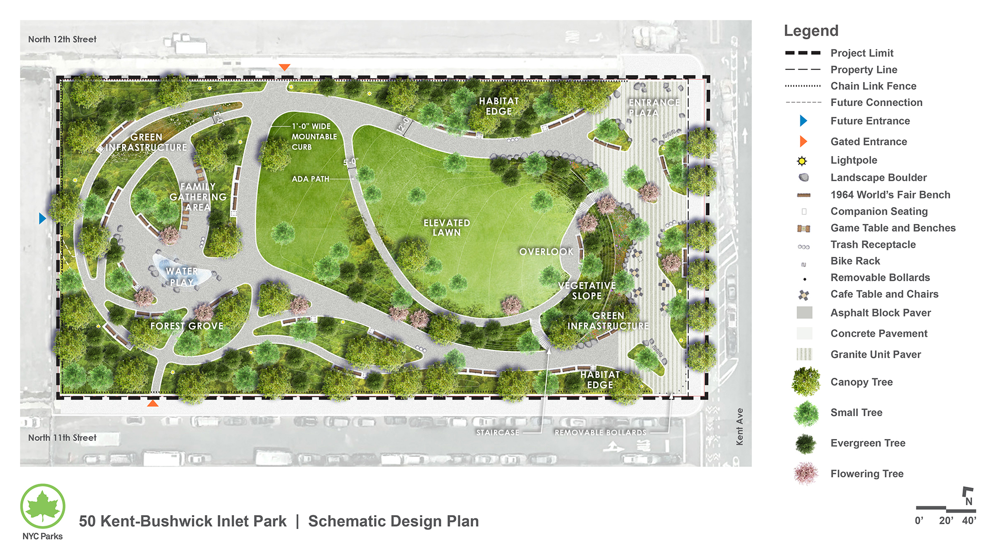 Design of Bushwick Inlet Park (50 Kent Avenue) New Park Construction