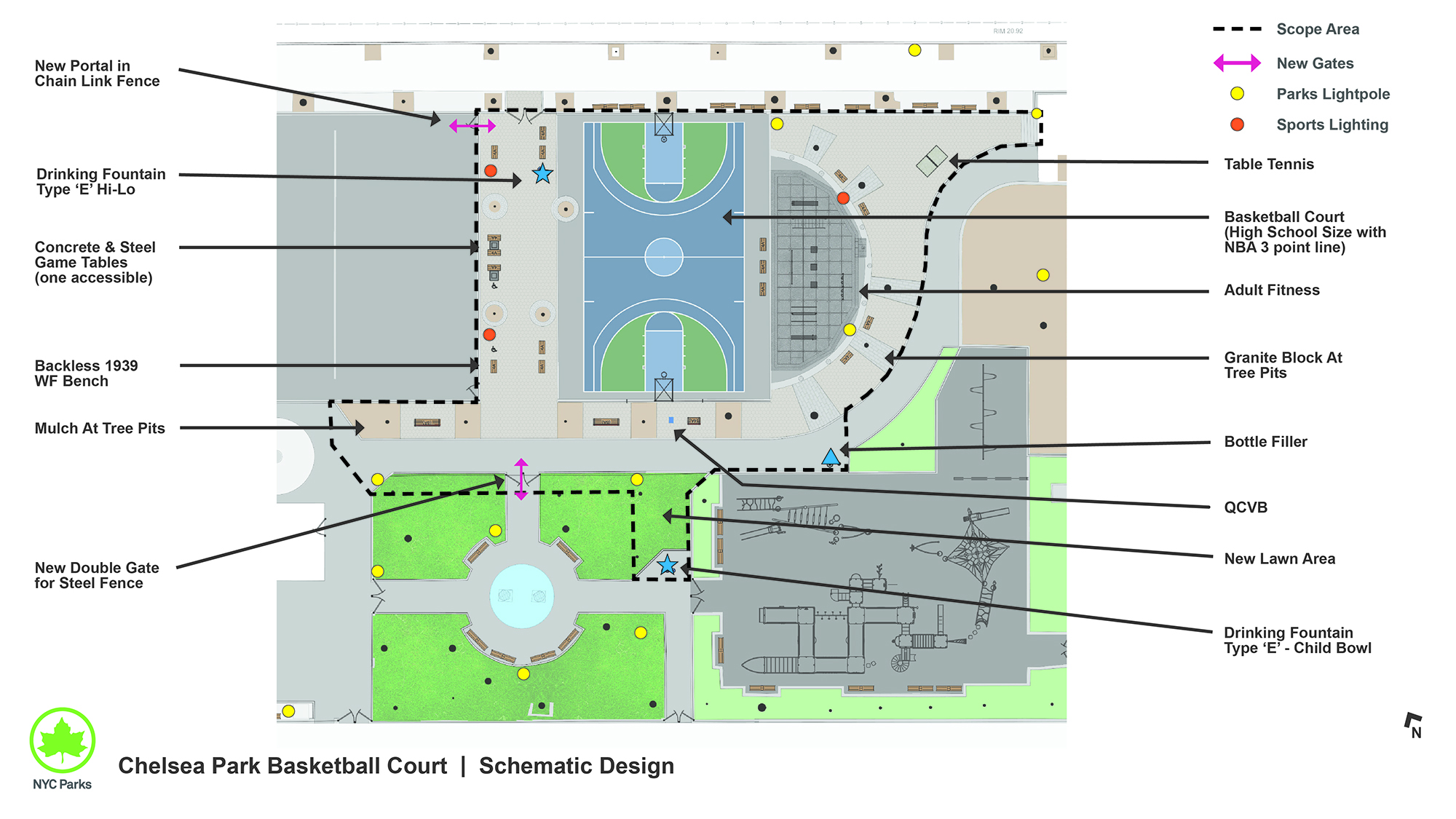 Design of Chelsea Park Basketball Court Reconstruction