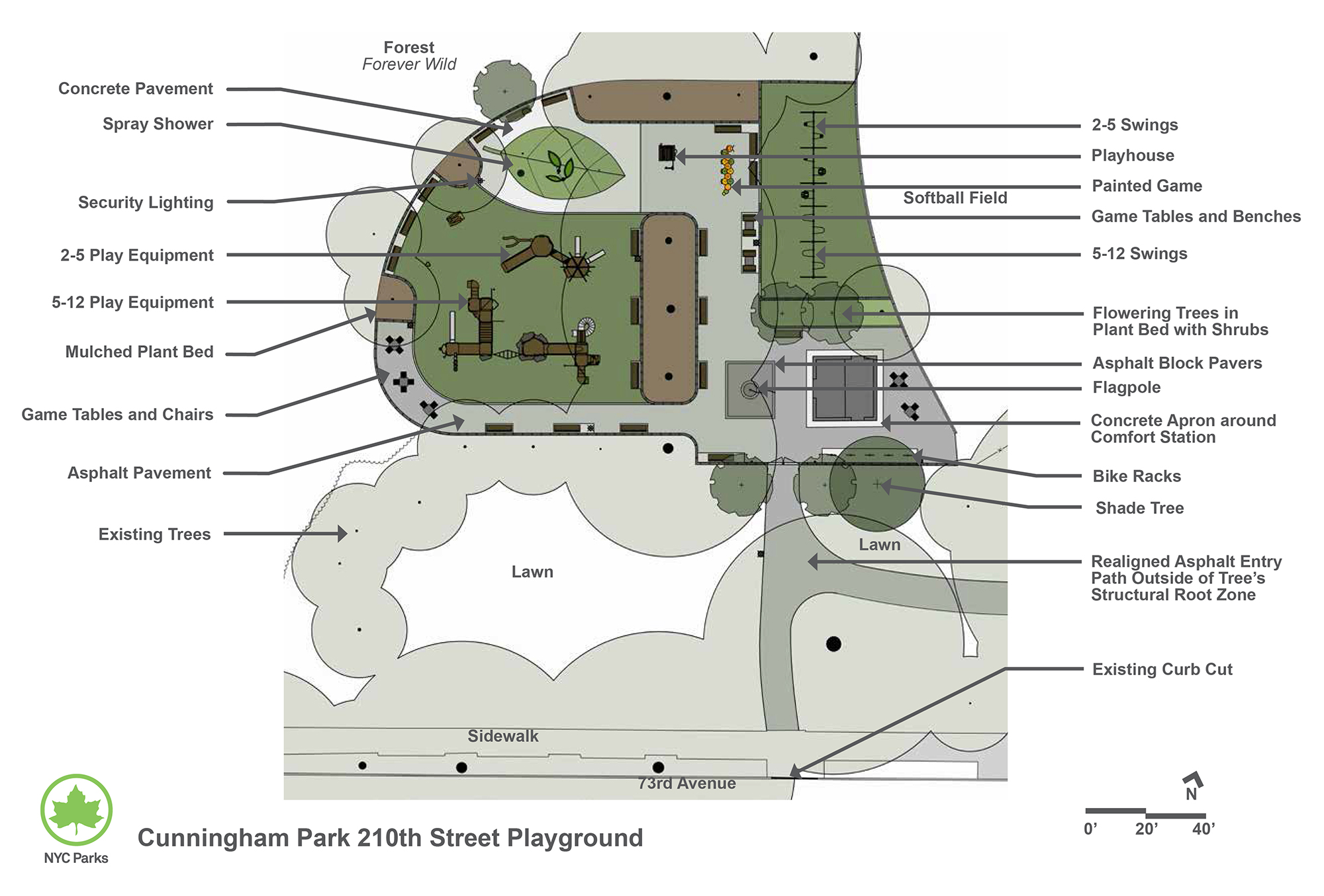 Design of Cunningham Park 210th Street Playground Reconstruction