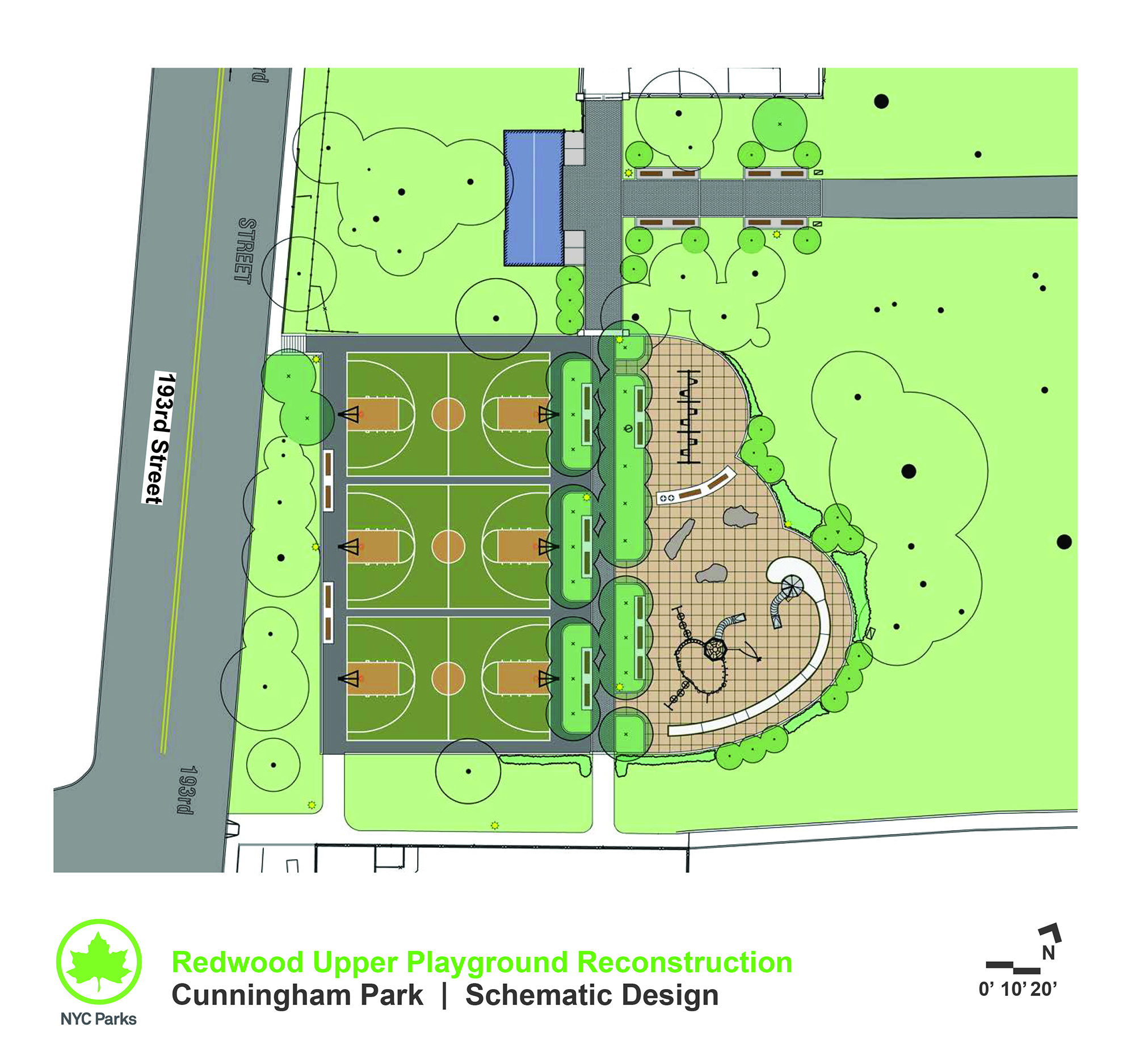Design of Cunningham Park Redwood Upper Playground Reconstruction
