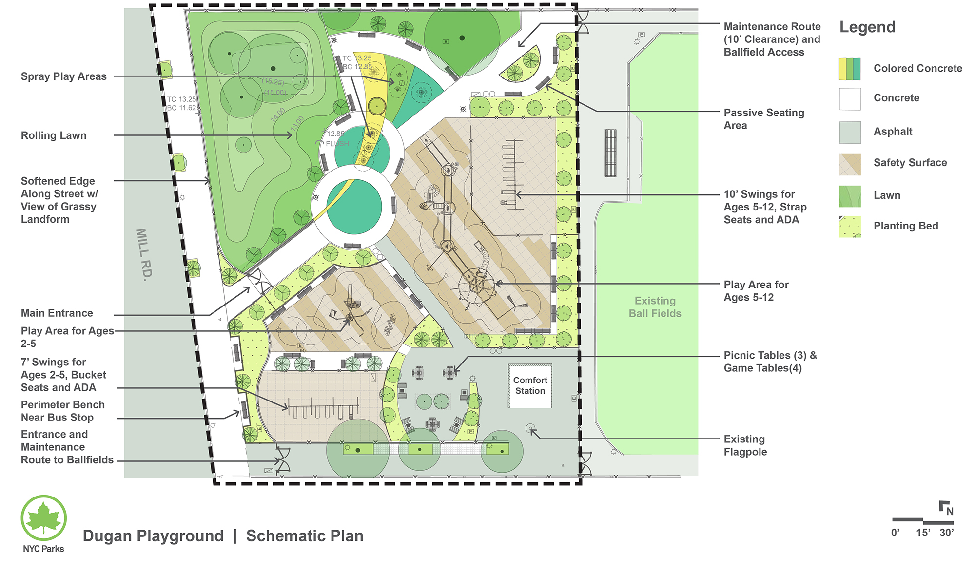 Design of Gerard P. Dugan Playground Reconstruction